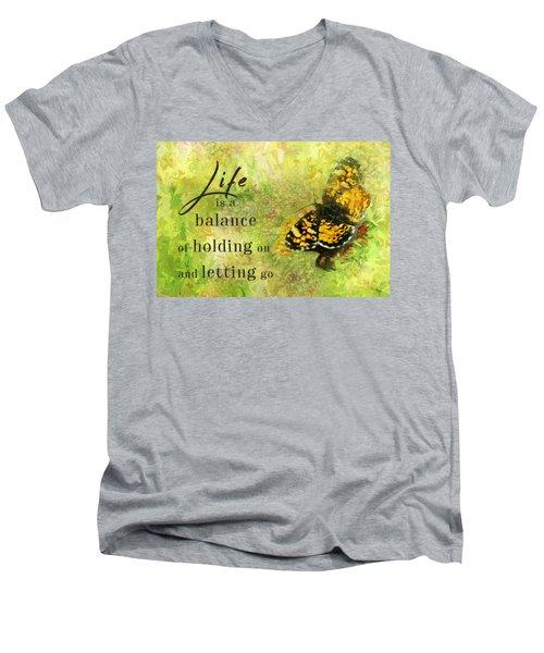 Life Is A Balance Men's V-Neck T-Shirt