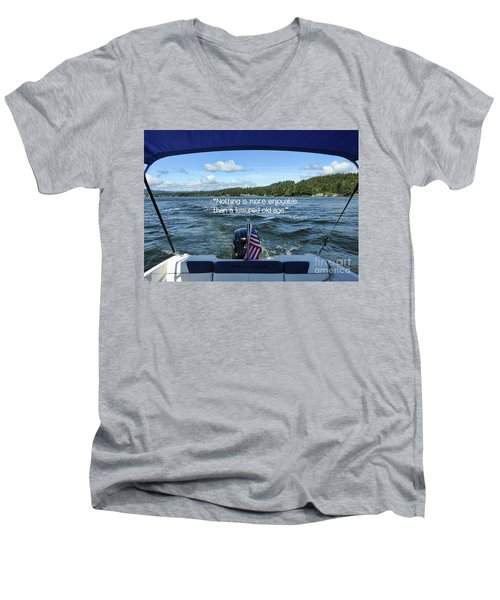 Men's V-Neck T-Shirt featuring the photograph Life Of Leisure by Peggy Hughes