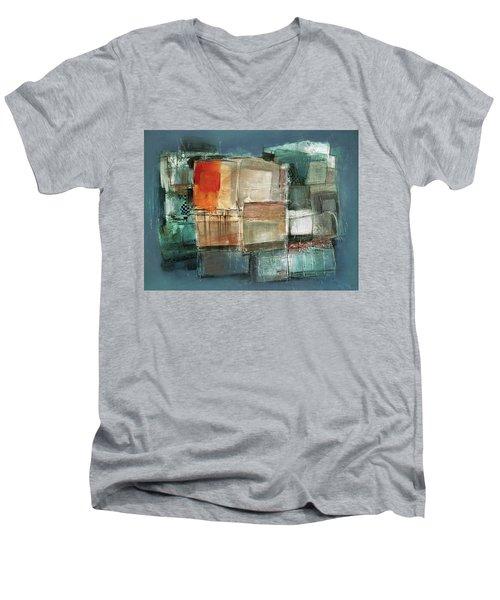 Patterns Men's V-Neck T-Shirt by Behzad Sohrabi