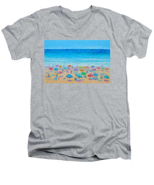 Life On The Beach Men's V-Neck T-Shirt
