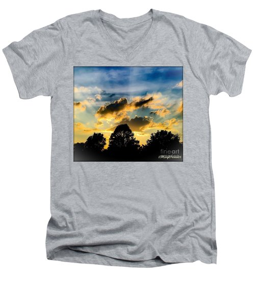 Life With Out Words Men's V-Neck T-Shirt by MaryLee Parker