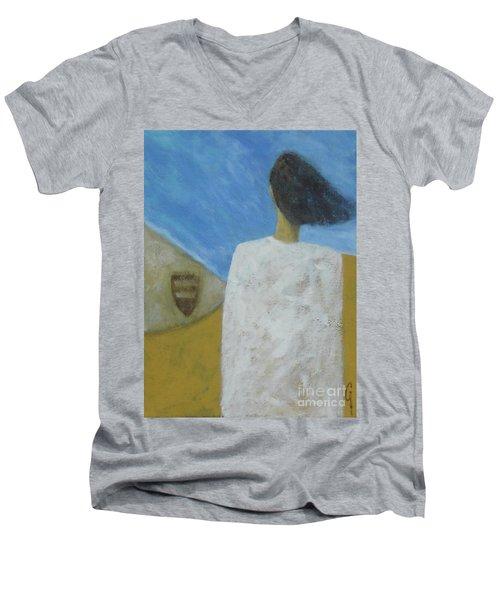 Lifeboat Men's V-Neck T-Shirt by Glenn Quist