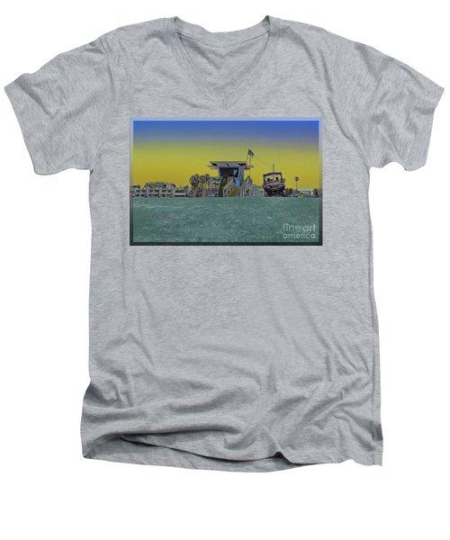 Lifeguard Tower 4 Men's V-Neck T-Shirt
