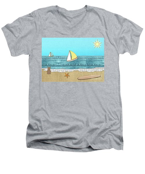Life's A Beach Men's V-Neck T-Shirt