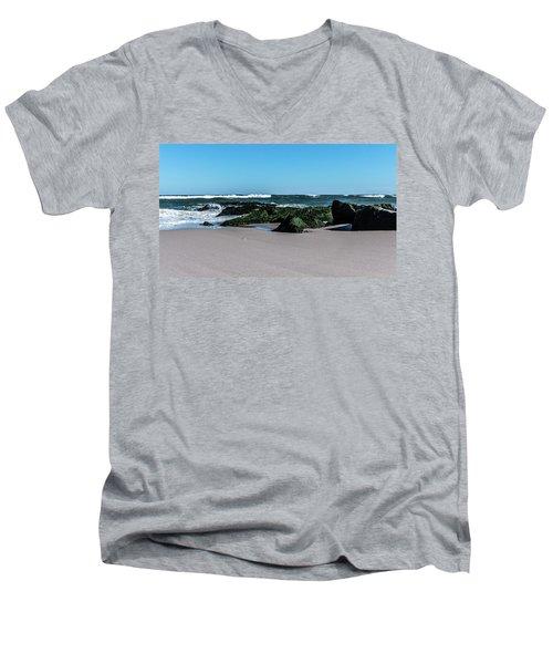 Lifes A Beach Men's V-Neck T-Shirt