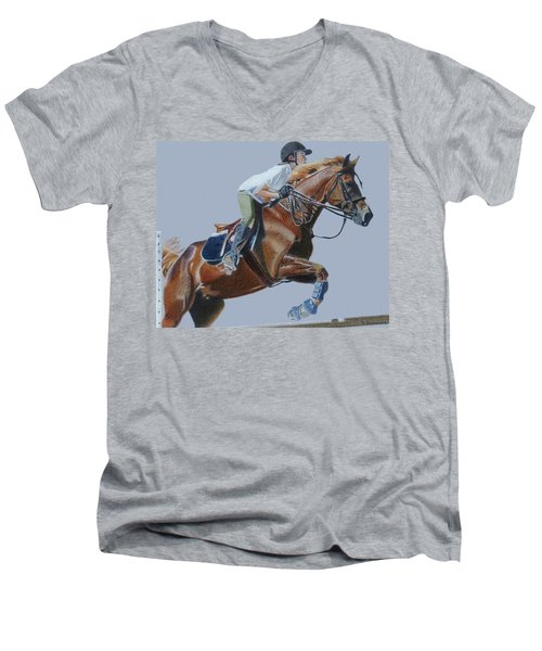 Horse Jumper Men's V-Neck T-Shirt
