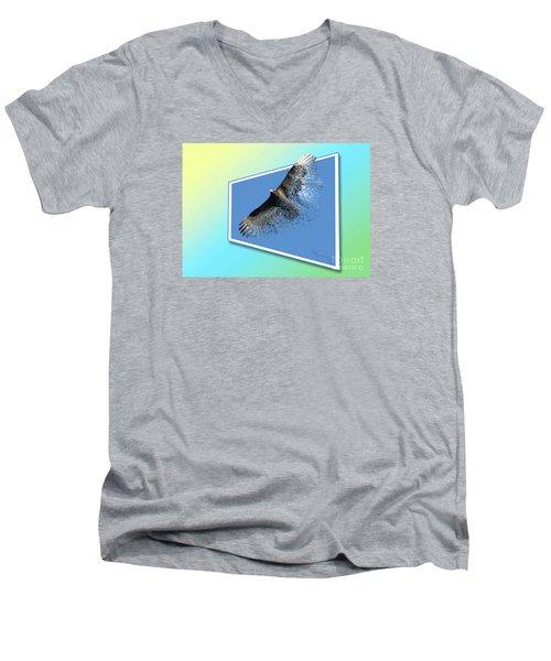 Life's Impermanence  Men's V-Neck T-Shirt by Mariarosa Rockefeller