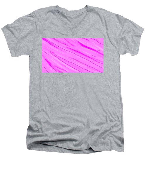 Light And Dark Pink Swirl Men's V-Neck T-Shirt