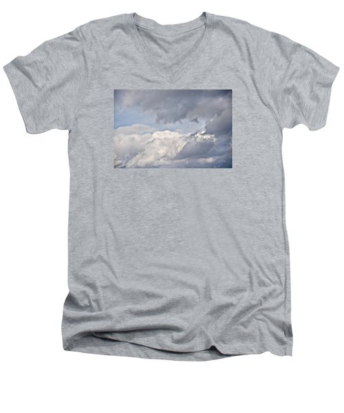 Men's V-Neck T-Shirt featuring the photograph Light And Heavy by Wanda Krack