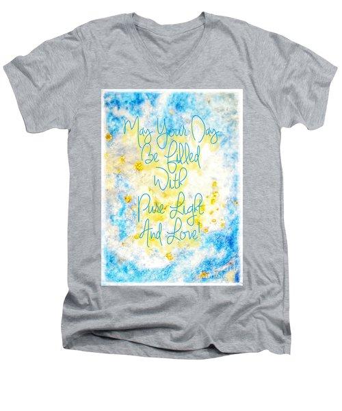 Light And Love Men's V-Neck T-Shirt