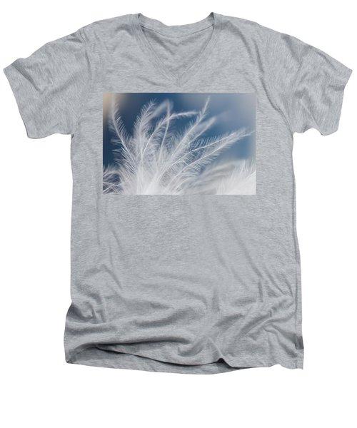 Light As A Feather Men's V-Neck T-Shirt by Yvette Van Teeffelen