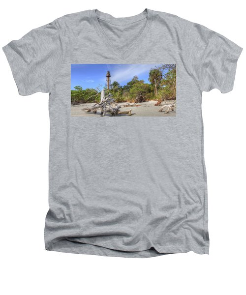 Light Behind The Stump Men's V-Neck T-Shirt