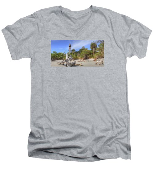 Light Behind The Stump Men's V-Neck T-Shirt