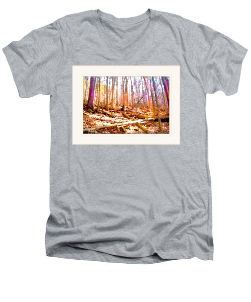 Light Between The Trees Men's V-Neck T-Shirt by Felipe Adan Lerma