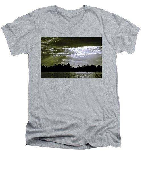 Light Blast In Evening Men's V-Neck T-Shirt