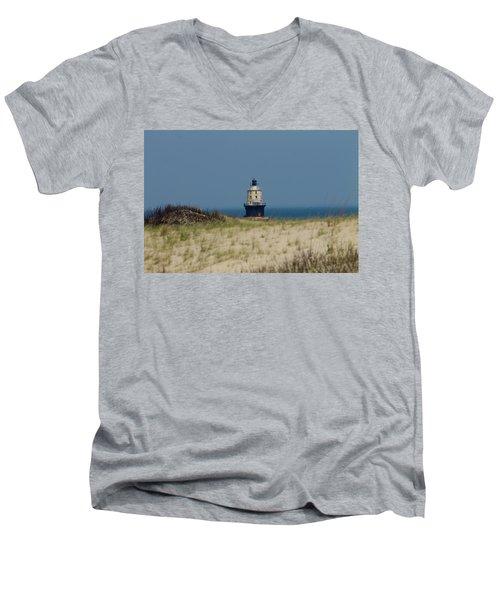 Light House At The Cape Men's V-Neck T-Shirt