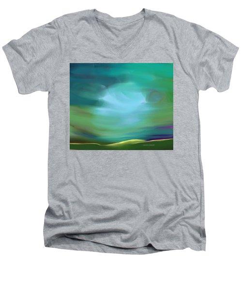 Light In The Storm Men's V-Neck T-Shirt by Lenore Senior
