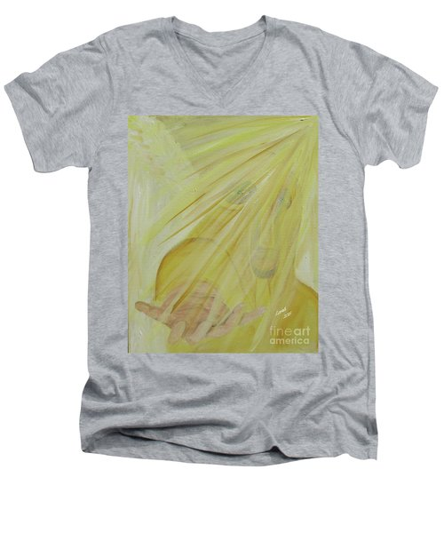Light Of God Enfold Me Men's V-Neck T-Shirt