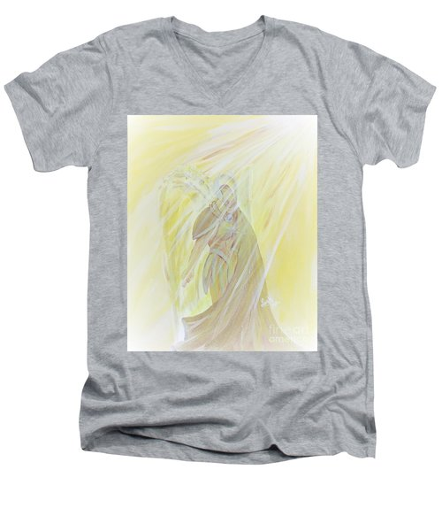 Light Of God Surround Us Men's V-Neck T-Shirt
