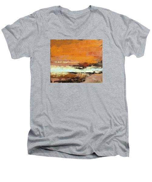Light On The Horizon Men's V-Neck T-Shirt by Nathan Rhoads
