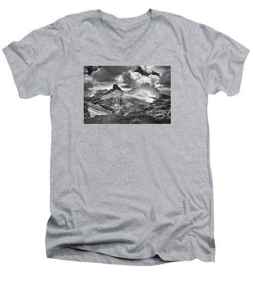 Light On The Valley Men's V-Neck T-Shirt by Yuri Santin