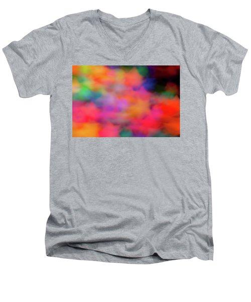 Lucky Neon Stars Men's V-Neck T-Shirt