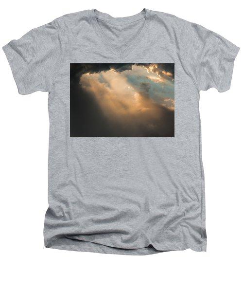 Light Punches Through Darkness Men's V-Neck T-Shirt