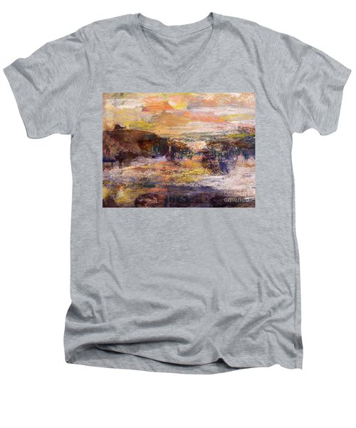 Light Show At Dawn Men's V-Neck T-Shirt