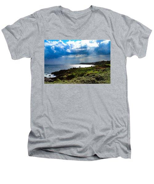 Light Streams On Kauai Men's V-Neck T-Shirt