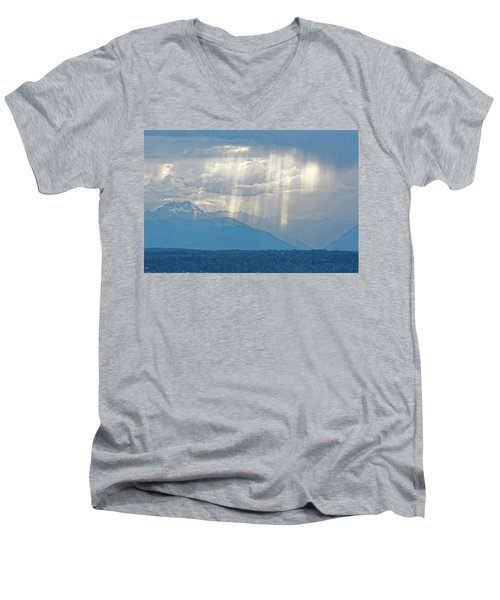 Light Through Clouds Men's V-Neck T-Shirt