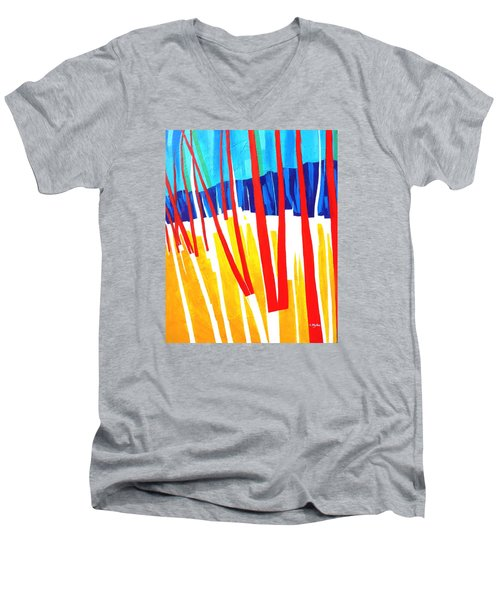 Light Through The Trees Men's V-Neck T-Shirt