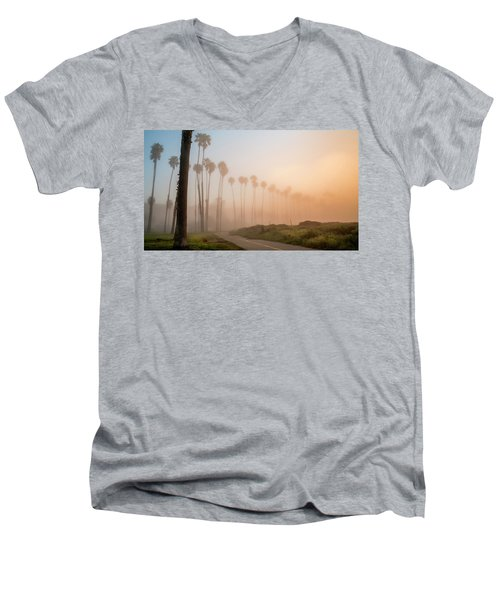 Lighter Longer Men's V-Neck T-Shirt by Sean Foster