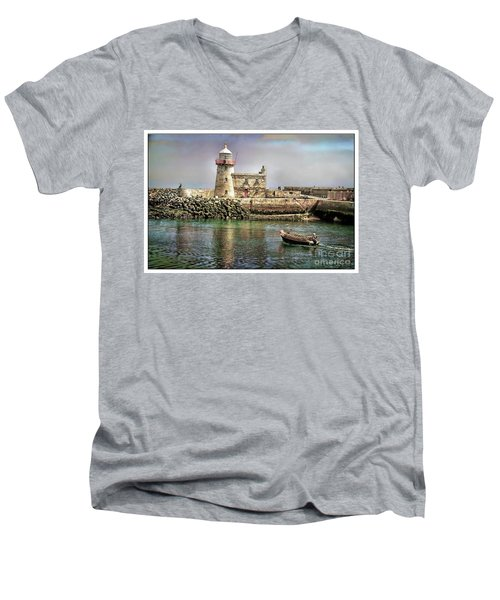 Lighthouse At Howth, Ireland Men's V-Neck T-Shirt