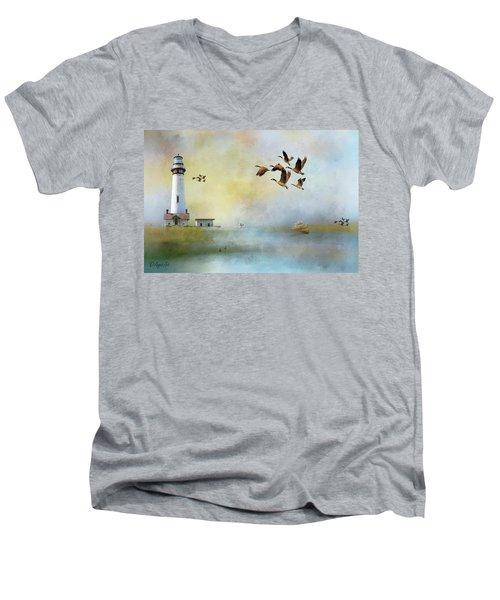 Lighthouse Bay Men's V-Neck T-Shirt