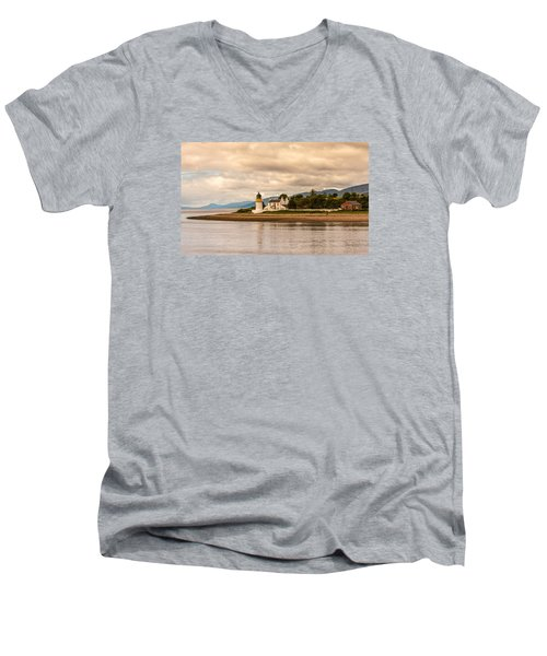 Lighthouse In The Highlands Men's V-Neck T-Shirt