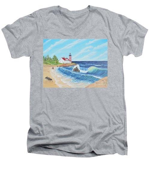 Lighthouse Life Men's V-Neck T-Shirt