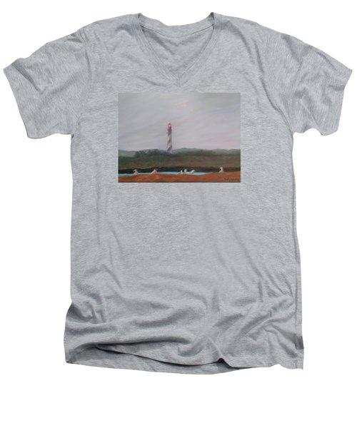 Lighthouse View Men's V-Neck T-Shirt