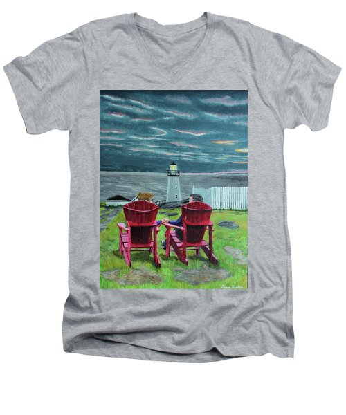 Lighthouse Lovers Men's V-Neck T-Shirt