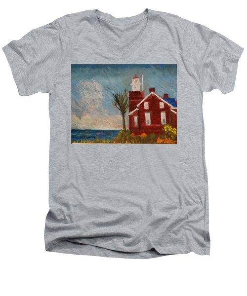Big Bay Lighthouse  Men's V-Neck T-Shirt