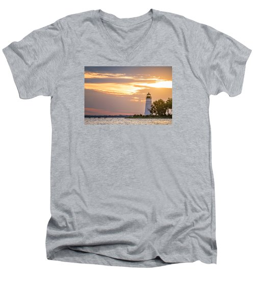 Men's V-Neck T-Shirt featuring the photograph Lighting The Way by Andy Crawford