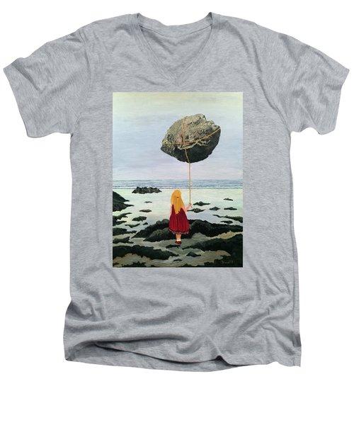 Lightness Of Being Men's V-Neck T-Shirt