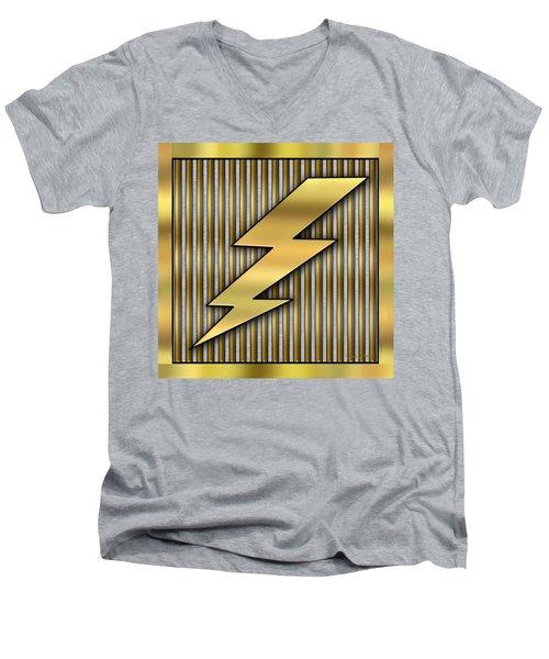 Lightning Bolt Men's V-Neck T-Shirt