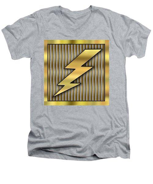 Lightning Bolt Men's V-Neck T-Shirt by Chuck Staley