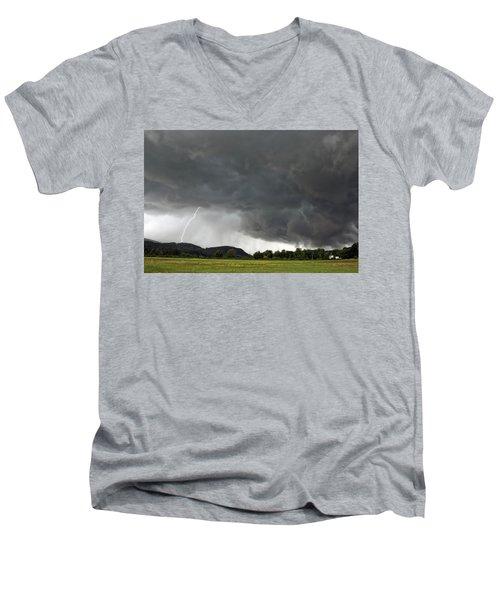 Lightning Strike On Tyringham Plain Men's V-Neck T-Shirt