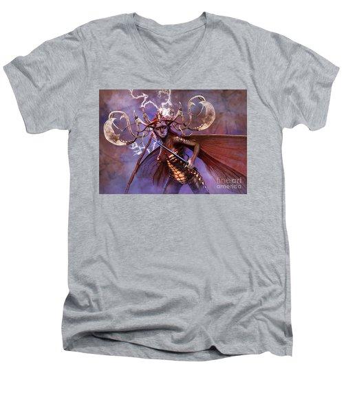 Lightning Strikes Men's V-Neck T-Shirt