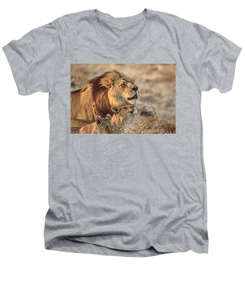 Like Father Like Son Men's V-Neck T-Shirt