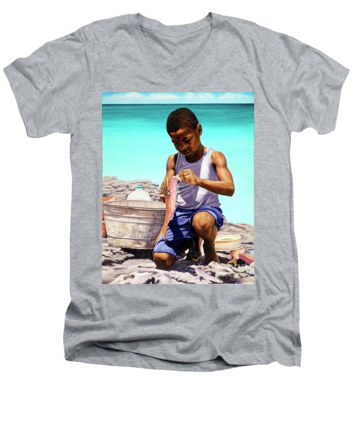Lil Fisherman Men's V-Neck T-Shirt