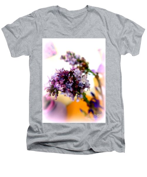 Lilac Beauty Men's V-Neck T-Shirt by Marlene Rose Besso