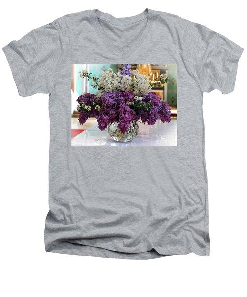 Lilac Bouquet Men's V-Neck T-Shirt