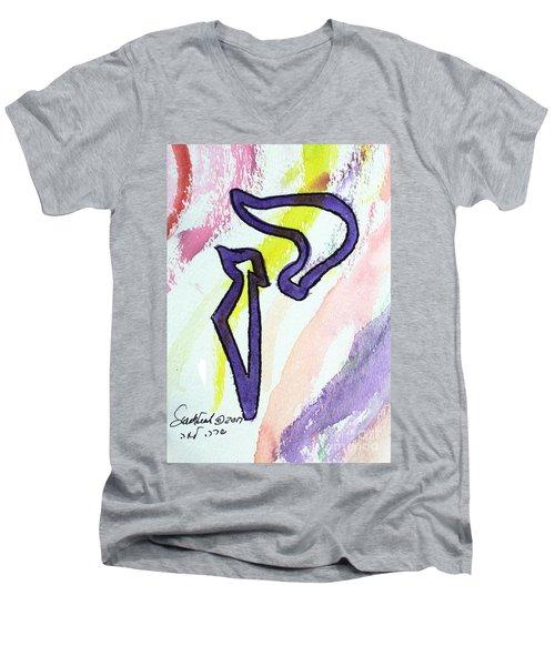 Lilac Kuf Men's V-Neck T-Shirt